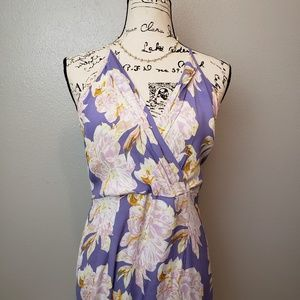 Astr Lavender Floral Maxi Dress sz M